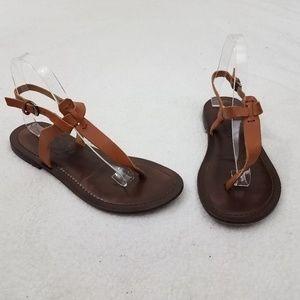 Matisse Sandals 9 M Brown Tan Leather T Strap Buck